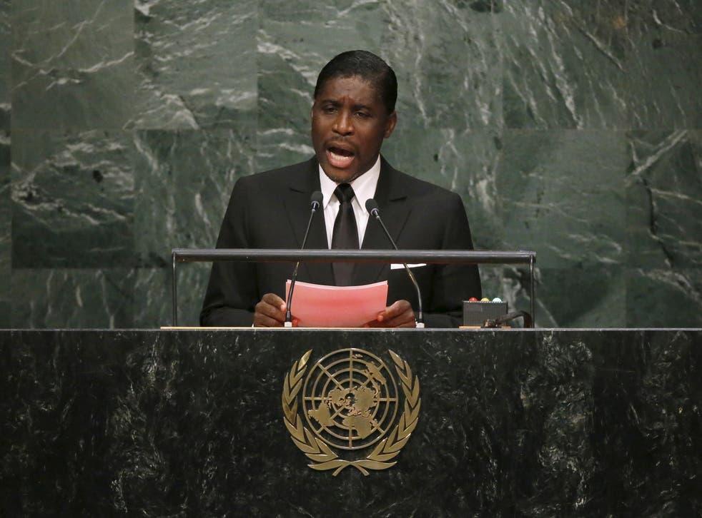 <p>Equatorial Guinea's Second Vice-President Teodoro Nguema Obiang Mangue</p>