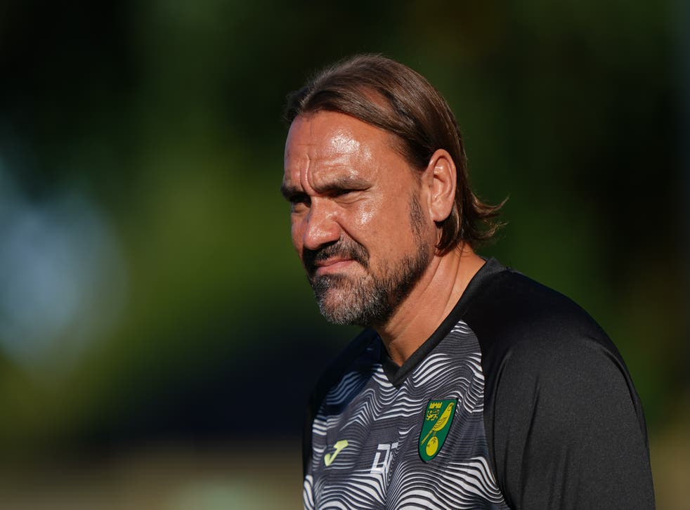 """<p>Daniel Farke insists he is not """"addicted"""" to positions in league table (Joe Giddens/PA)</p>"""