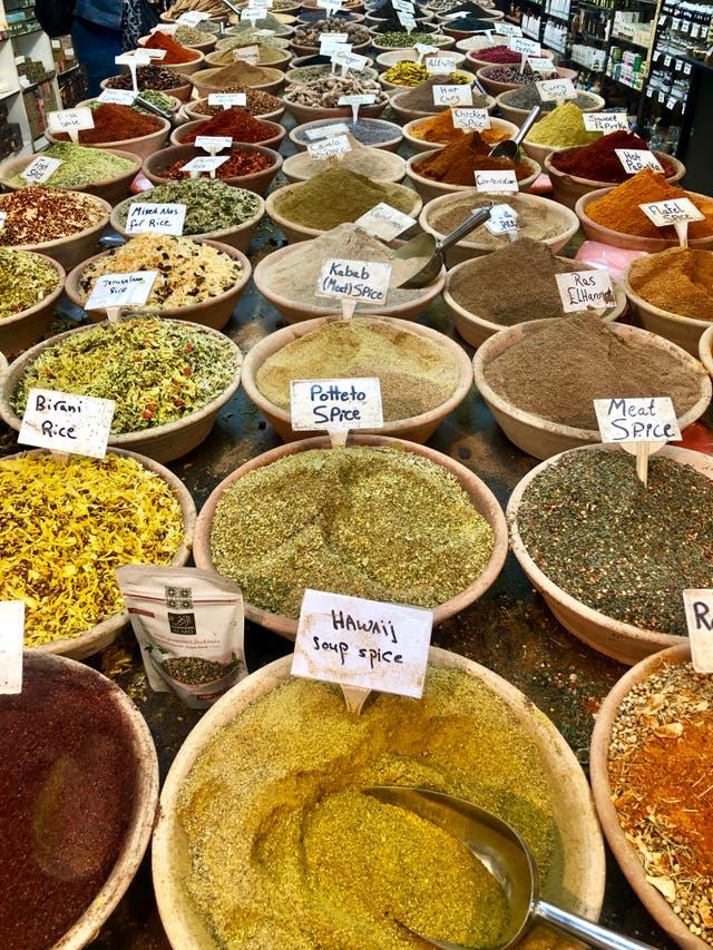 <p>Bounty from Jerusalem's Machane Yehuda Market</p>