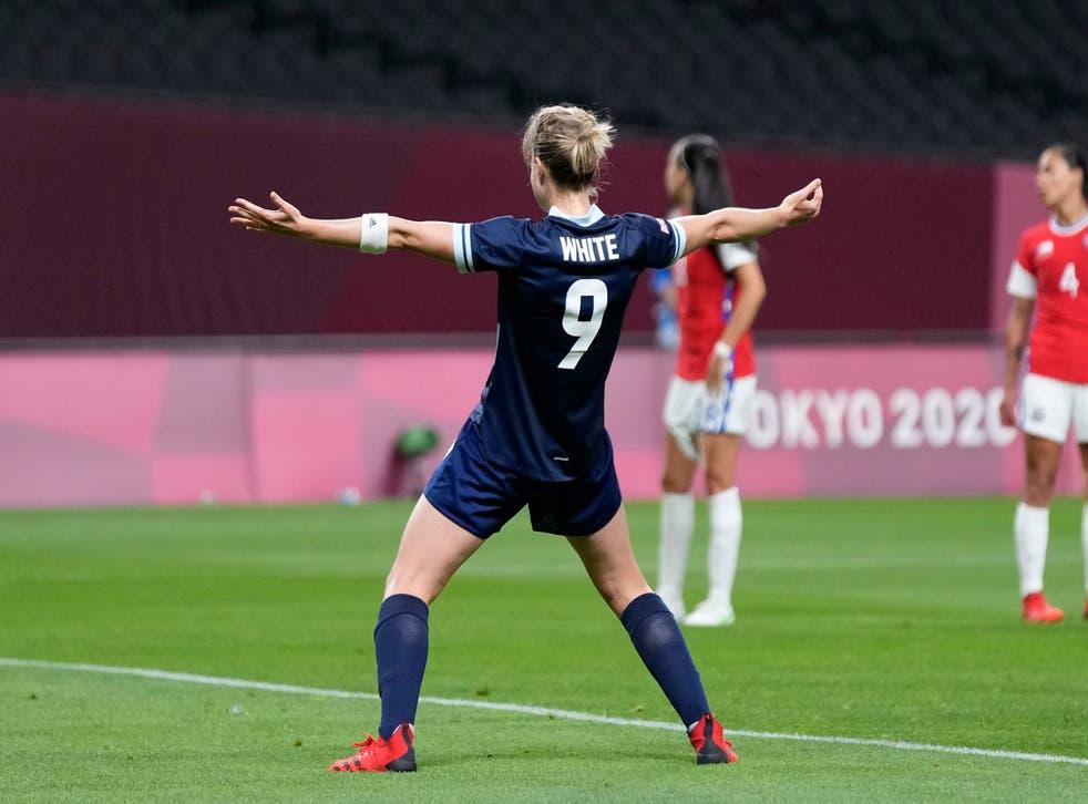<p>Ellen White scored twice against Chile (Silvia Izquierdo/AP)</p>