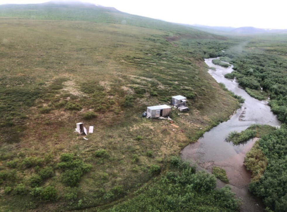 <p>A man was rescued from a remote mining camp after being attacked by a grizzly bear</p>