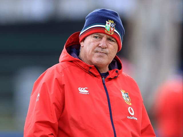 <p>British and Irish Lions boss Warren Gatland, pictured, is understood to be angry with the appointment of a South African Television Match Official for the first Test match against the Springboks (David Rogers)</p>