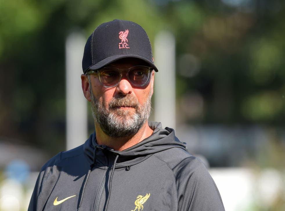 <p>Jurgen Klopp before Liverpool's pre-season draw with Wacker Innsbruck in Austria</p>