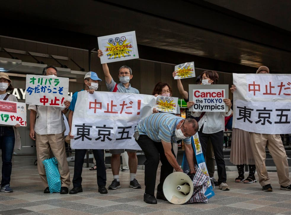 <p>Anti-Olympics protesters gather in Tokyo</p>