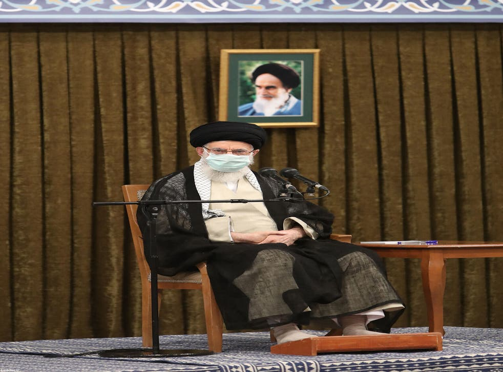 <p>Iran's supreme leader, Ayatollah Ali Khamenei,  has accused Iran's enemies of trying to exploit the situation</p>