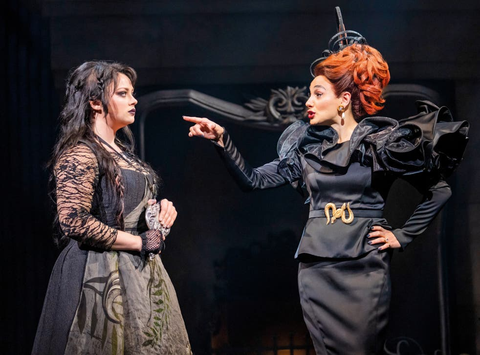 <p>Carrie Hope Fletcher and Victoria Hamilton-Barritt in 'Cinderella'</p>