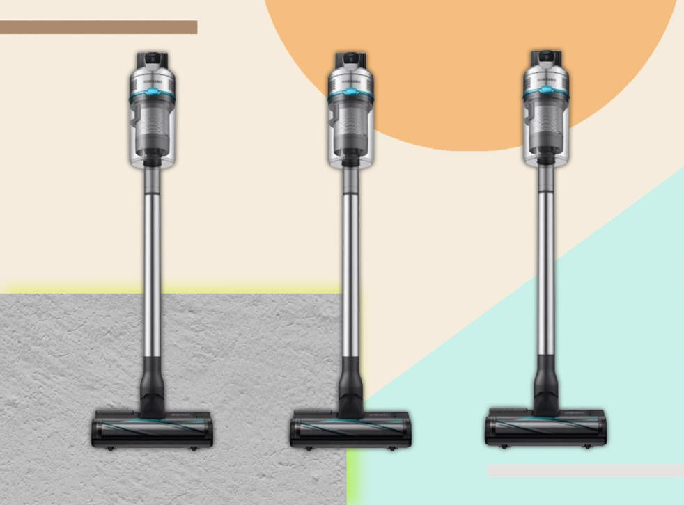 <p>Beyond vacuuming up dirt, Samsung's vacuum can also mop your floors  </p>