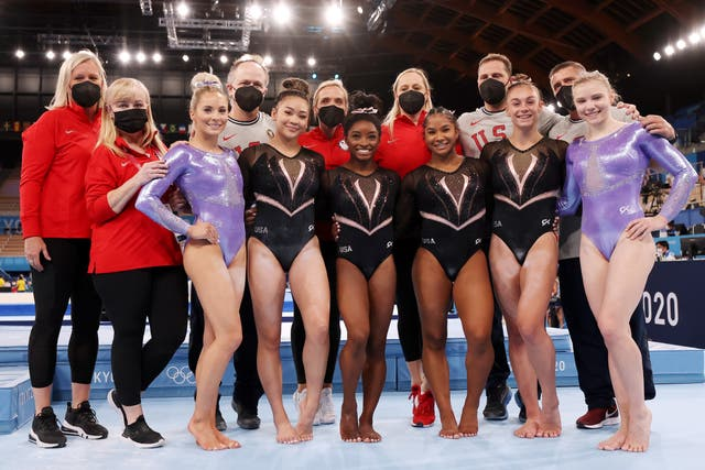 <p>Female athletes, including star gymnast Simone Biles, make up a sizable majority of the US Olympic team</p>