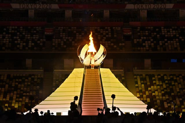 <p>Naomi Osaka lights the Olympic flame in Tokyo</p>