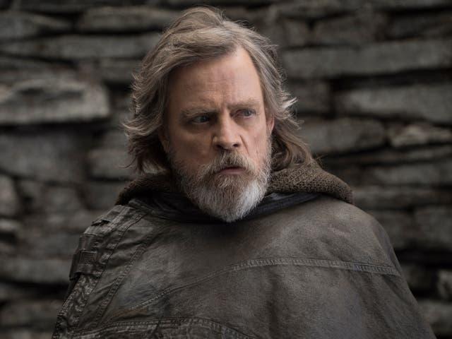 <p>Mark Hamill as Luke Skywalker in 'The Last Jedi'</p>