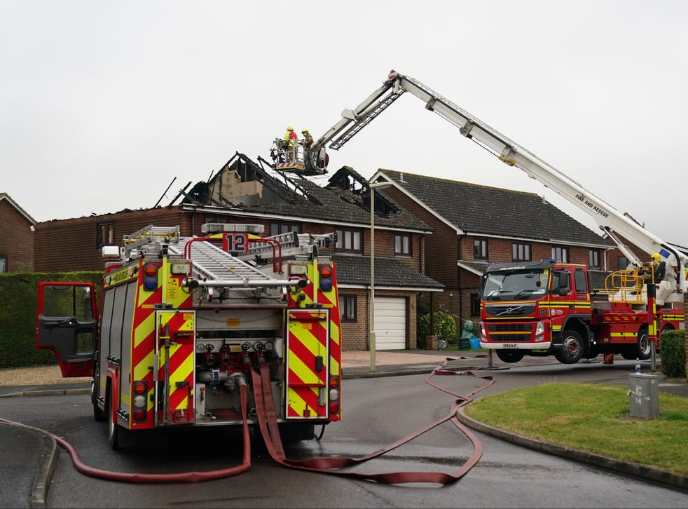 <p>Fire crews from seven surrounding areas were sent to the scene and are now damping down the property</p>