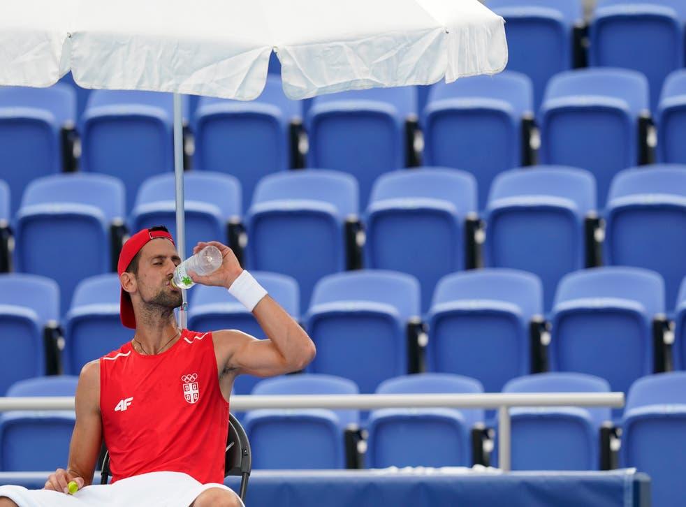 <p>Novak Djokovic found the hot conditions difficult in Tokyo (Patrick Semansky/AP)</p>