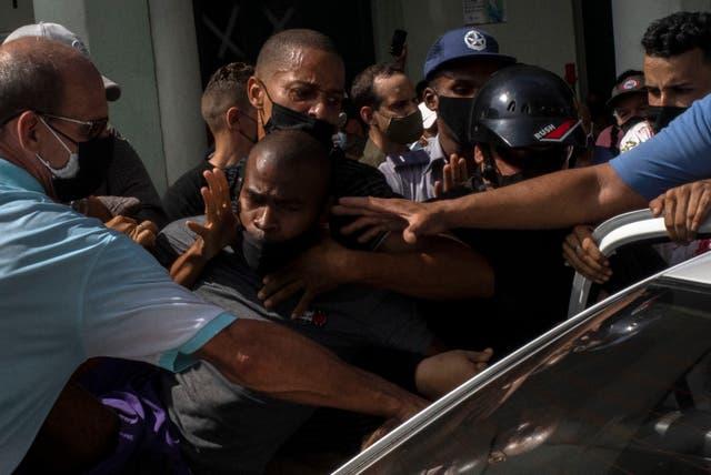 <p>CUBA-PROTESTAS</p>