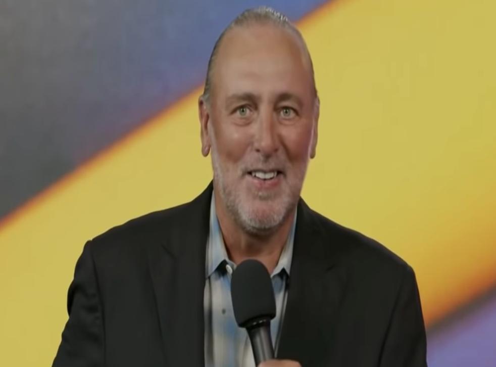 <p>Senior global pastor, Brian Houston, gives a sermon for Hillsong Church Online on 12 July 2021</p>