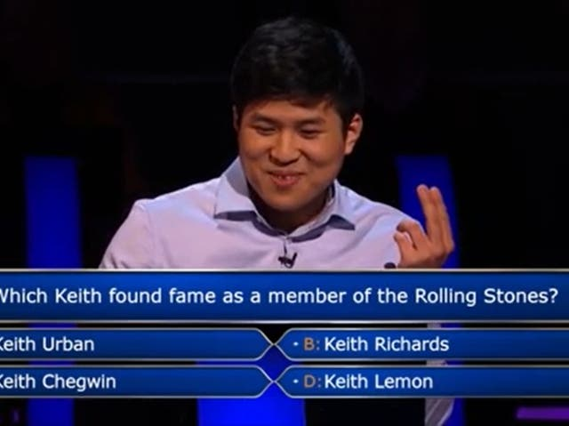 <p>Contestant Connor Kim was stumped by the opening question, but went on to win £125,000</p>