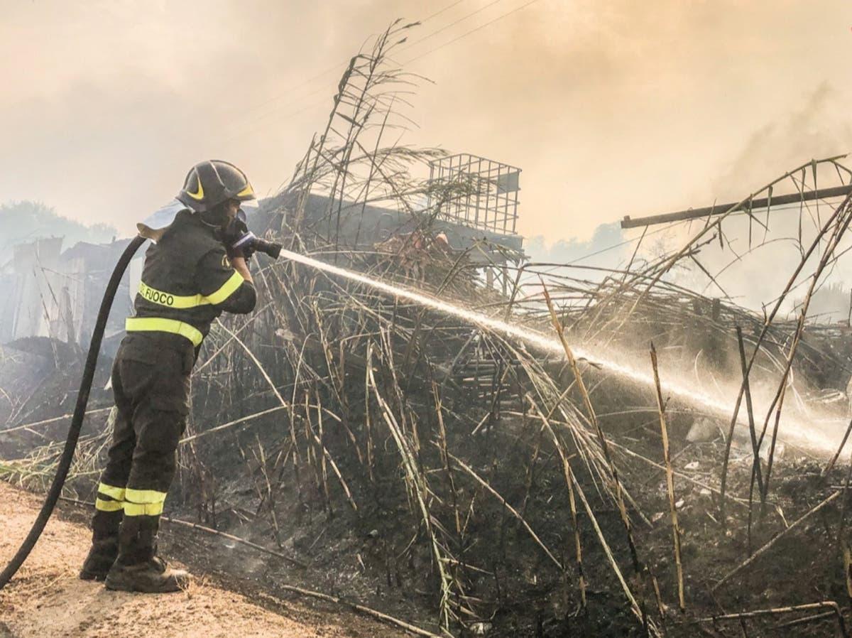Sardinia wildfires: Hundreds evacuated after massive blaze on Italian island