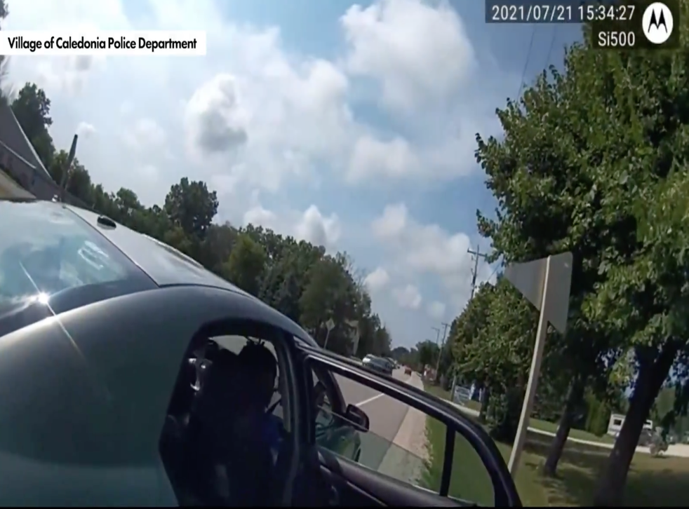 <p>Body camera footage disputed a viral video's account of a Black man being pulled over by police in Wisconsin.</p>