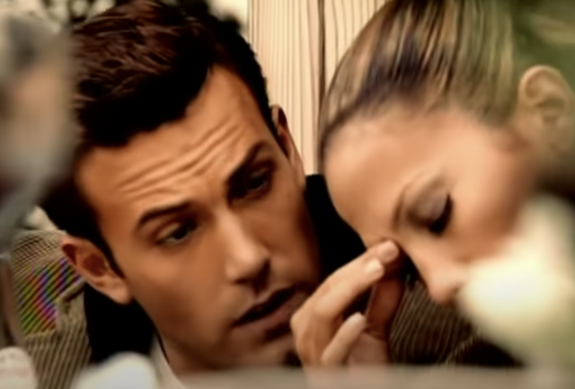 <p>JLo and Ben Affleck in Jenny from The Block music video</p>