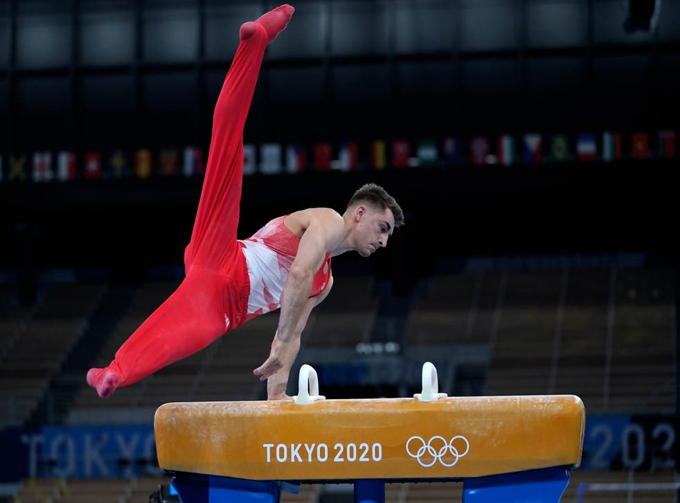 <p>Max Whitlock in action at the Tokyo Olympics</p>