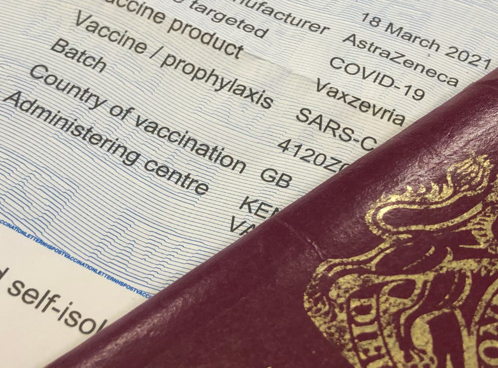 <p>Jab or quarantine: the option is open only to people whose vaccinations were administered in the UK</p>