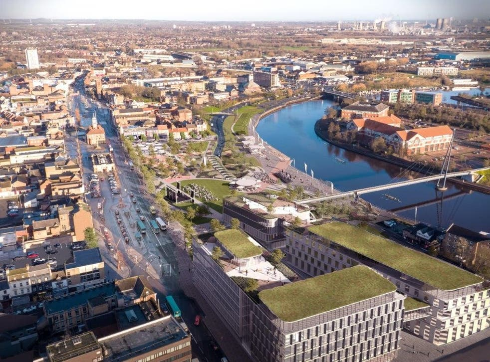 <p>How the centre of Stockton-on-Tees will look when the plan is built</p>