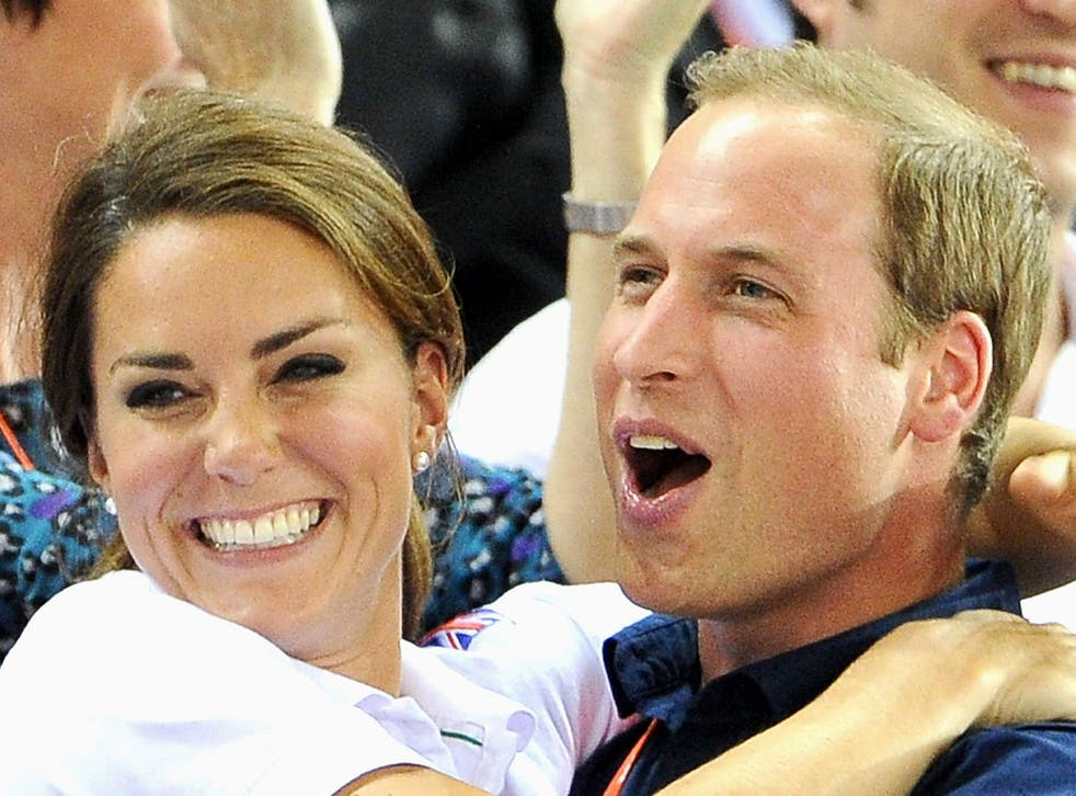 <p>Prince William and Kate Middleton at the London 2012 Olympics</p>