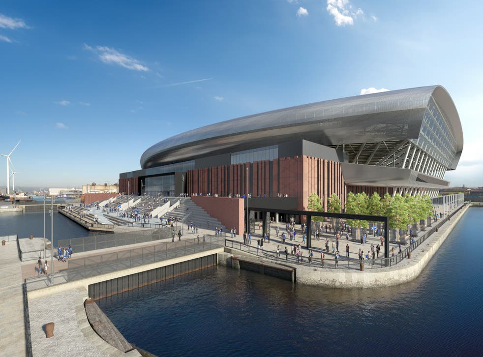 <p>Work has started on Everton's new stadium at Bramley-Moore Dock (Credit: Everton FC)</p>