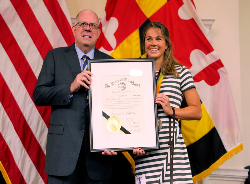 Paralympics Swimmer-Maryland Governor
