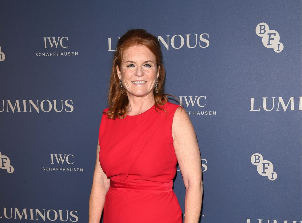 <p>Duchess of York attends a charity gala in London, 2019</p>