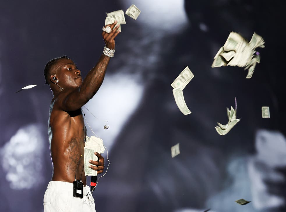 <p>File image: DaBaby performs on stage during Rolling Loud at Hard Rock Stadium in 2021</p>