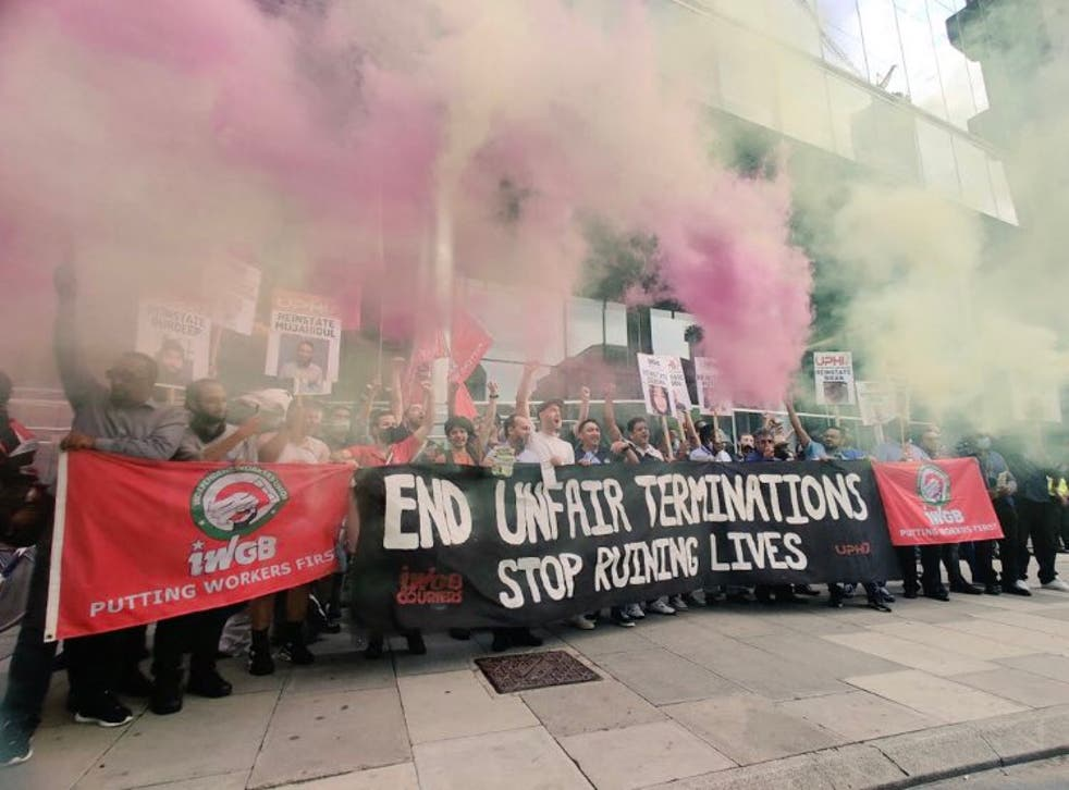 <p>The plight of gig economy workers has sparked protests and court cases, largely led by unions</p>