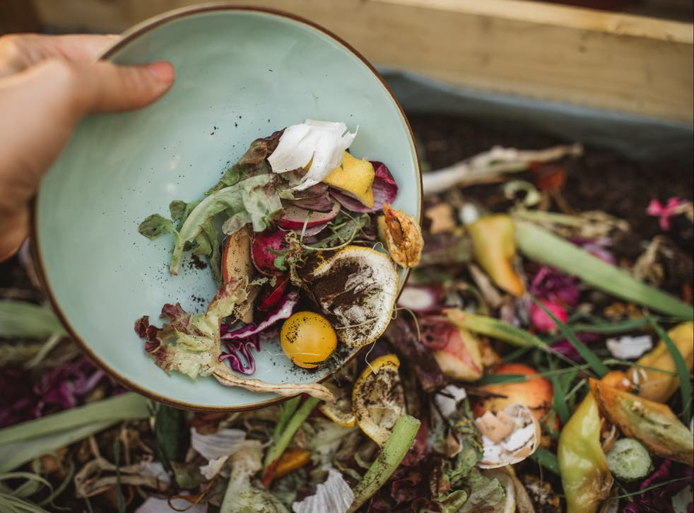 <p>Food waste being turned to compost</p>