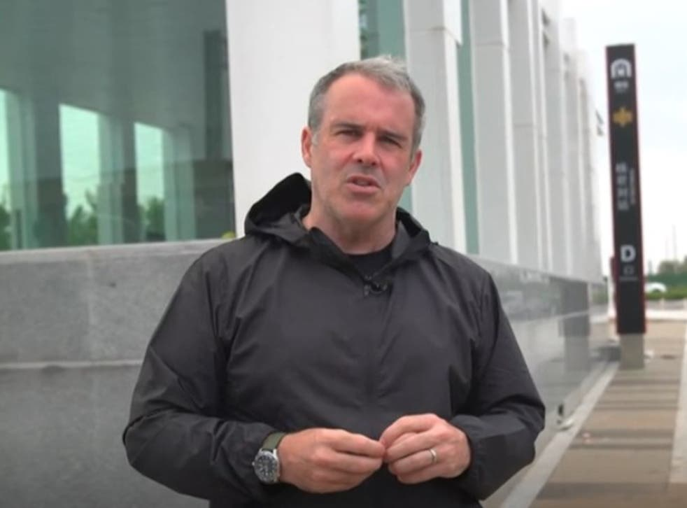 <p>The BBC's China correspondent Robin Brant was the intended target of a mob of angry  Zhengzhou residents</p>