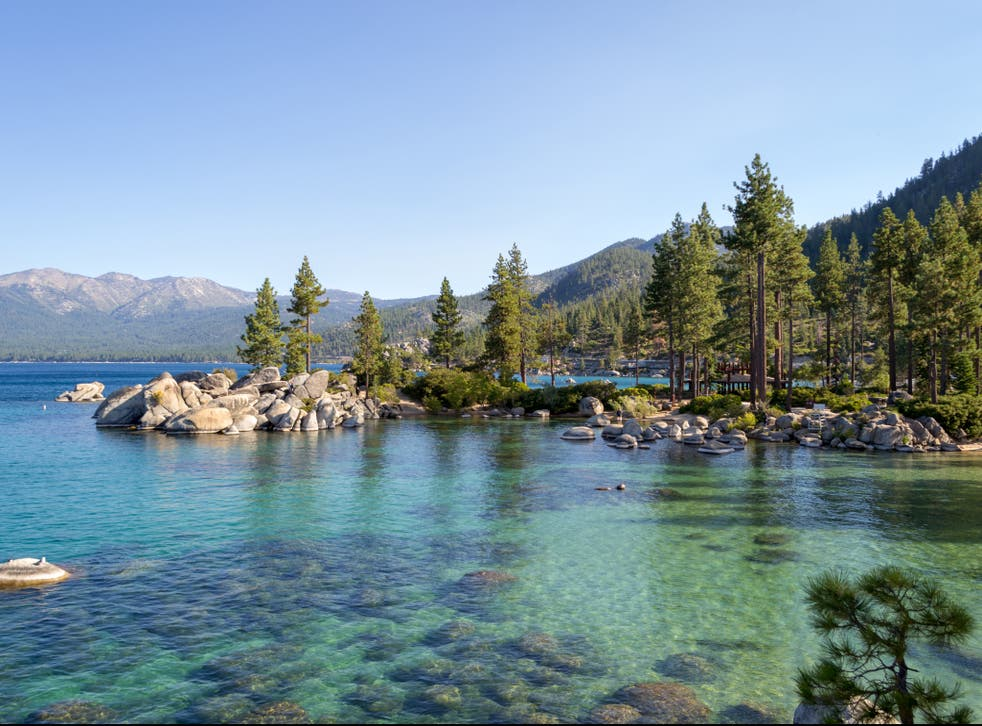 <p>Lake Tahoe is a freshwater alpine lake located in the Sierra Nevada</p>