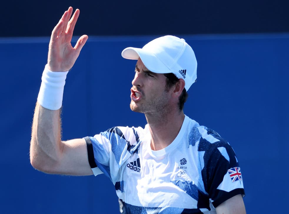 <p>Andy Murray shows his frustration on court</p>