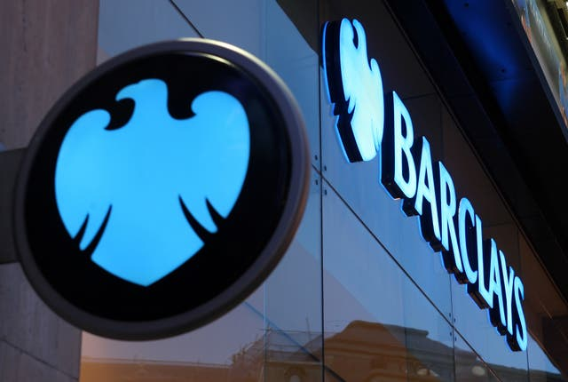 Barclays released £742m from its impairment pot (Dominic Lipinski/PA)