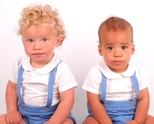 <p>The twins, called Klay and Cole, are 15 months old</p>
