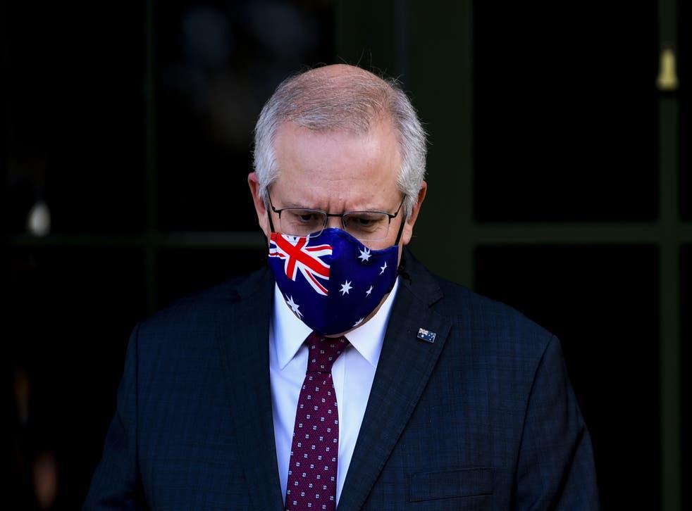 <p>Australia's PM Scott Morrison is fighting for his political survival</p>