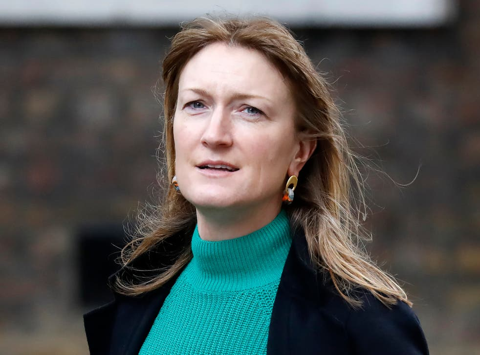 <p>Allegra Stratton arrives in Downing Street last year</p>