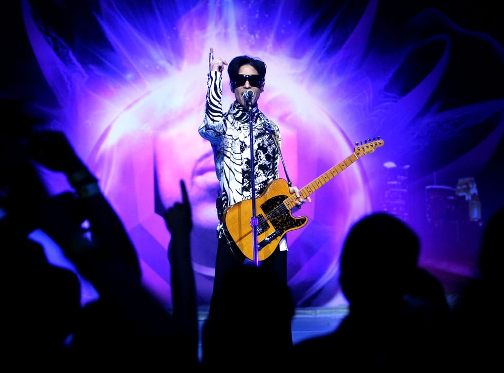 <p>Prince performing in 2009</p>