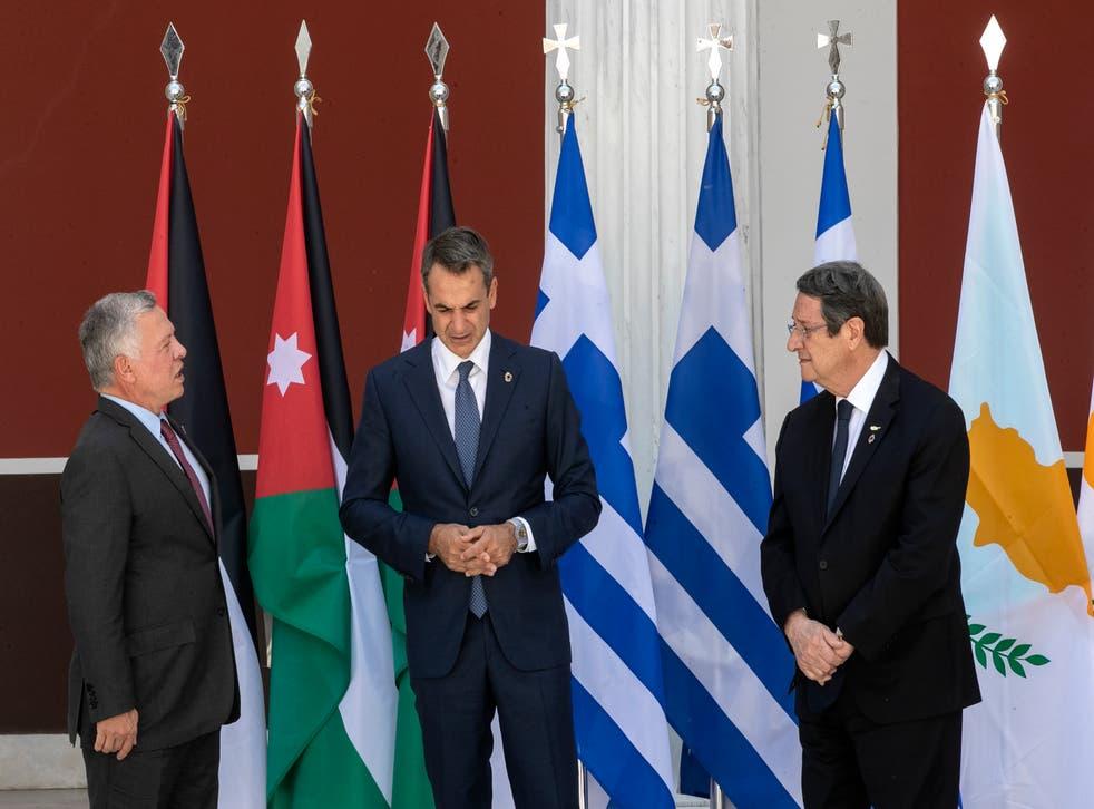 Greece Cyprus Jordan Summit