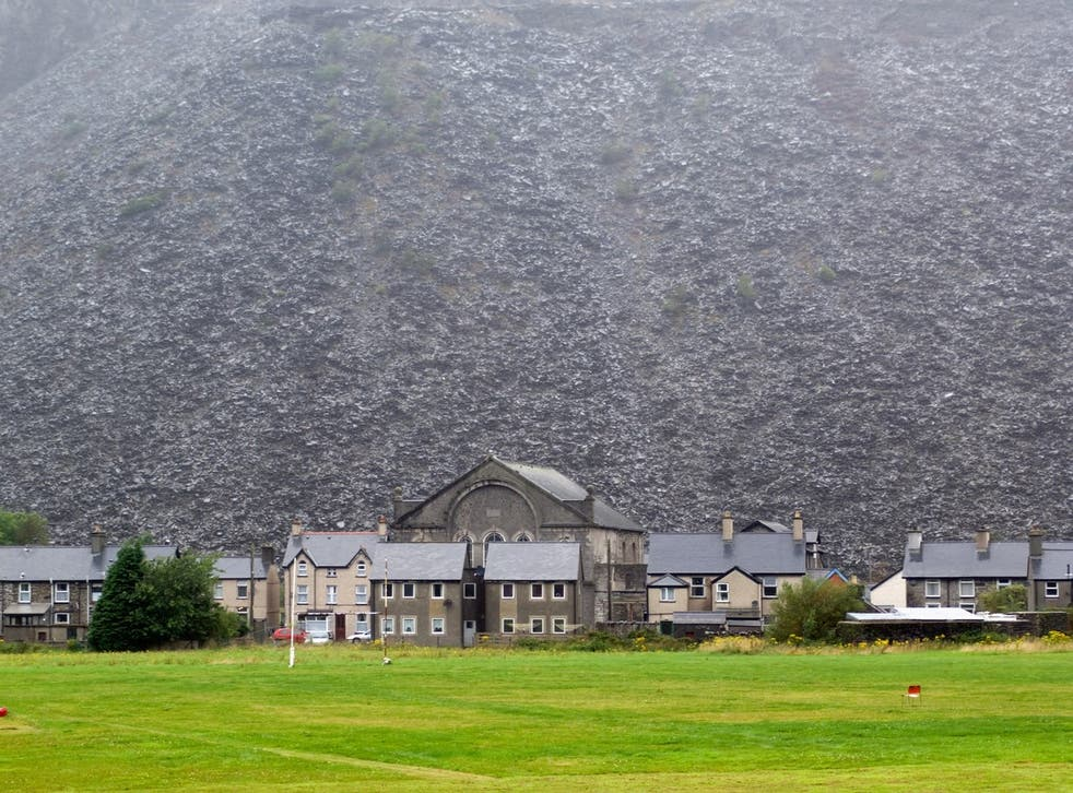 <p>Natural features, such as this magnificent slate mountain, were key to the area's inclusion in the list</p>