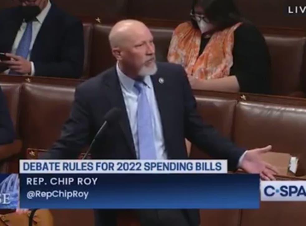 <p>Republican congressman Chip Roy rages over face masks</p>