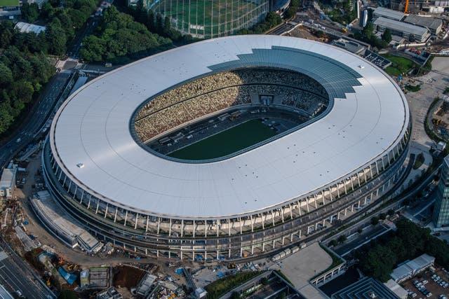 <p>The New National Stadium, the main stadium for the Tokyo 2020 Olympics.</p>