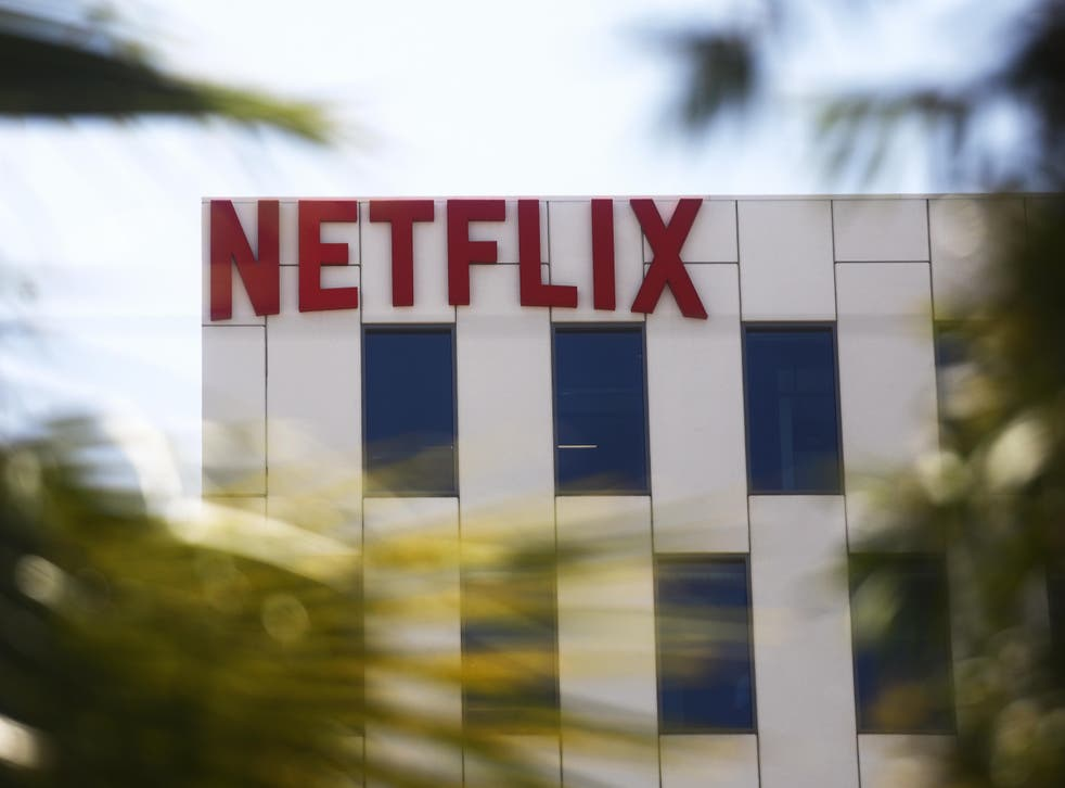 <p>The Netflix logo is displayed at Netflix offices on Sunset Boulevard on 29 May 2019 in Los Angeles, California</p>