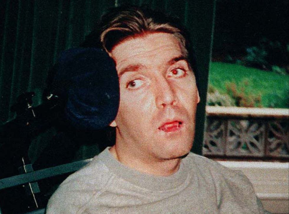 <p>Andrew Devine pictured after emerging from an eight-year vegetative state following the Hillsborough disaster</p>