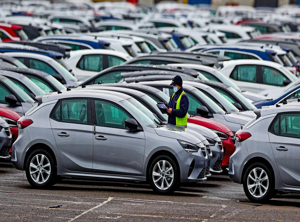 <p>Car production is being hit by staff shortages (Peter Byrne/PA)</p>