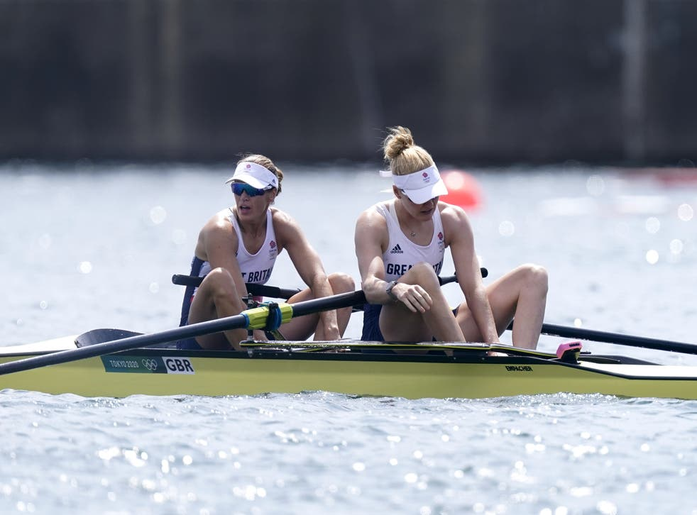 Helen Glover and Polly Swann had to settle for fourth place on Thursday morning (Danny Lawson/PA)