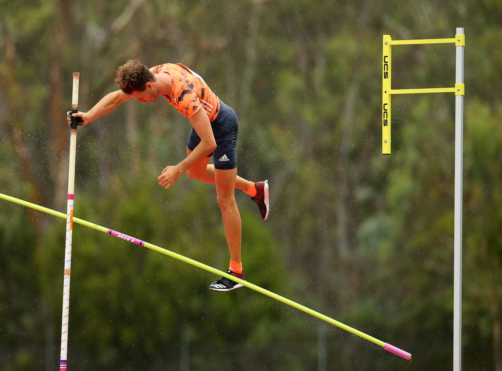 <p>File: Australia's Kurtis Marschall competes during the Canberra Festival of Athletics on 28 January, 2019</p>