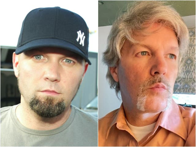 <p>Fred Durst pictured in 2003, and in a new Instagram photo</p>